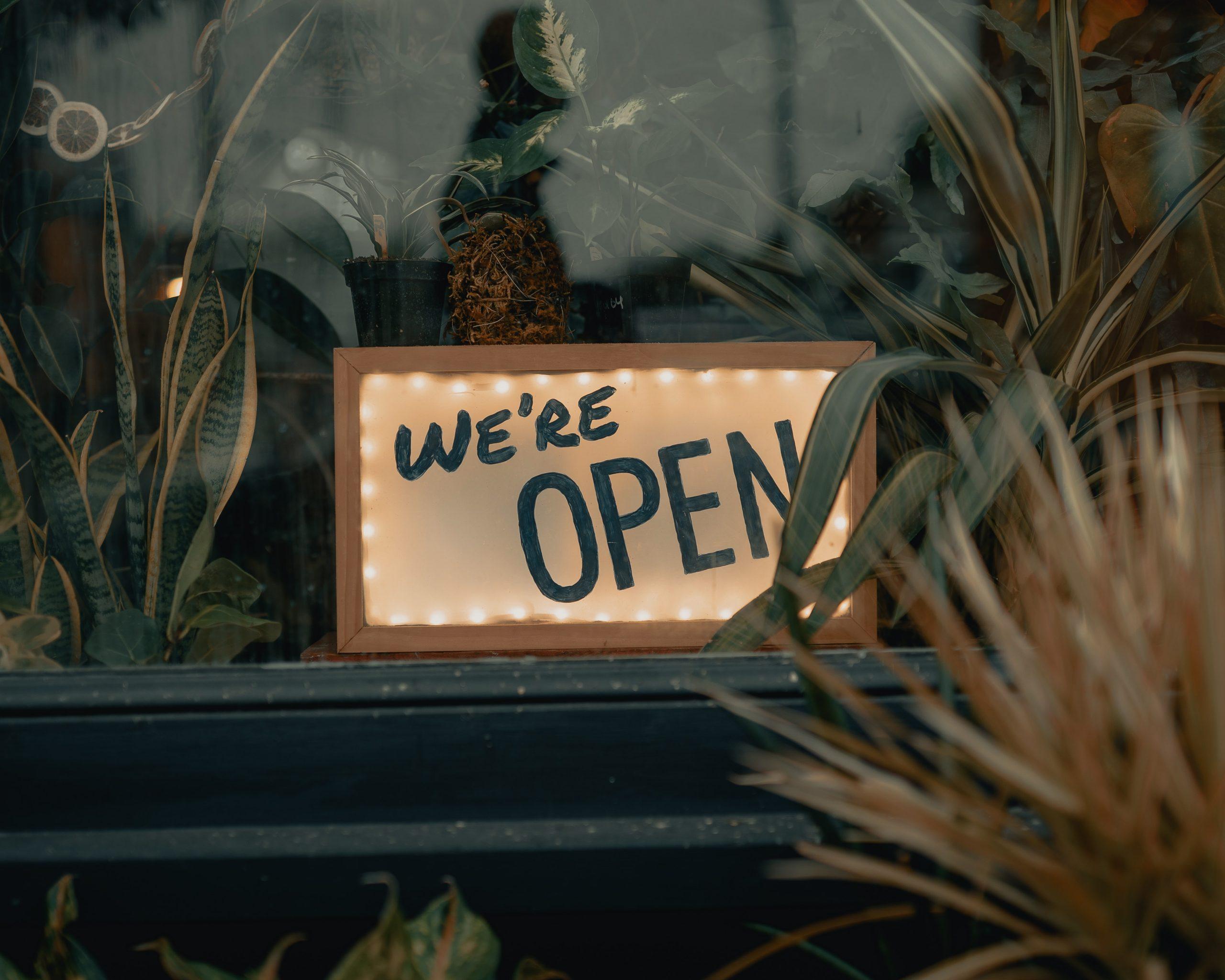 pop-up blumenladen ist offen